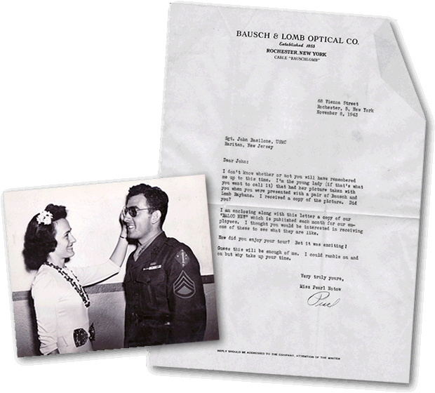 Basilone fan letter and photo.