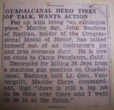 Guadalcanal Hero Tires of Talk, Wants Action