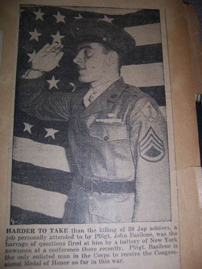 An example of the kind of news coverage John received during his war bond tour.