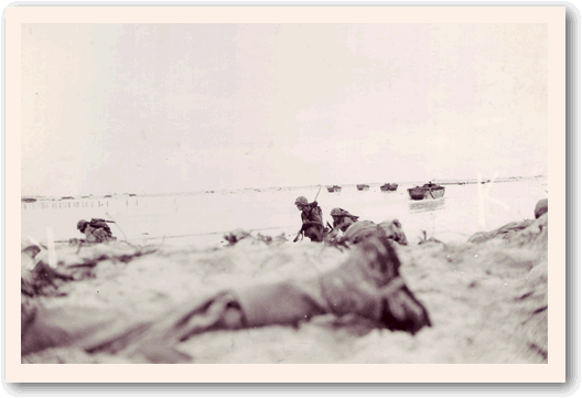Peleliu Beach on D-day.