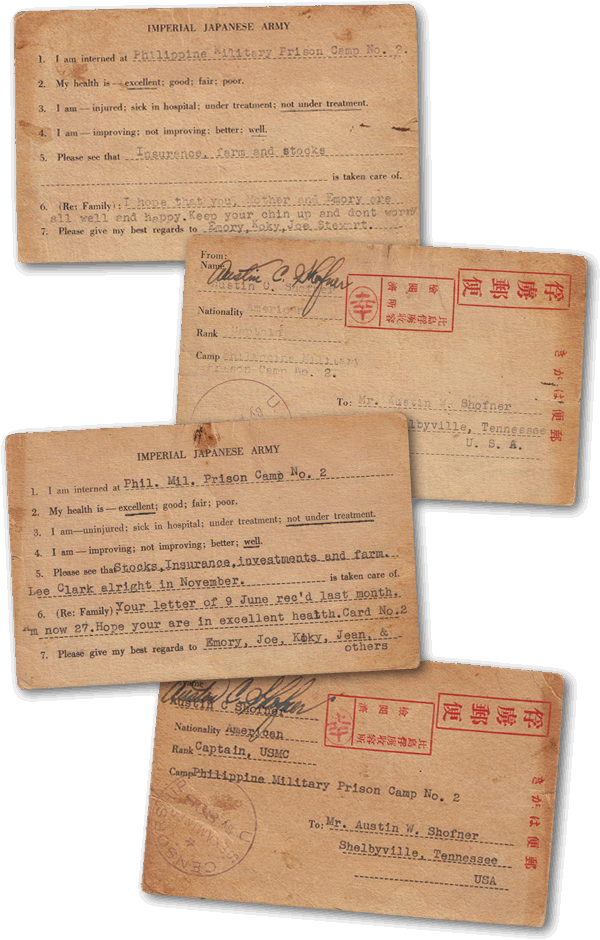 Shofner letters from POW camp.