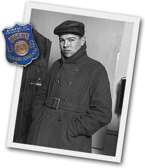 Al Hubbard and Treasury Agent Badge