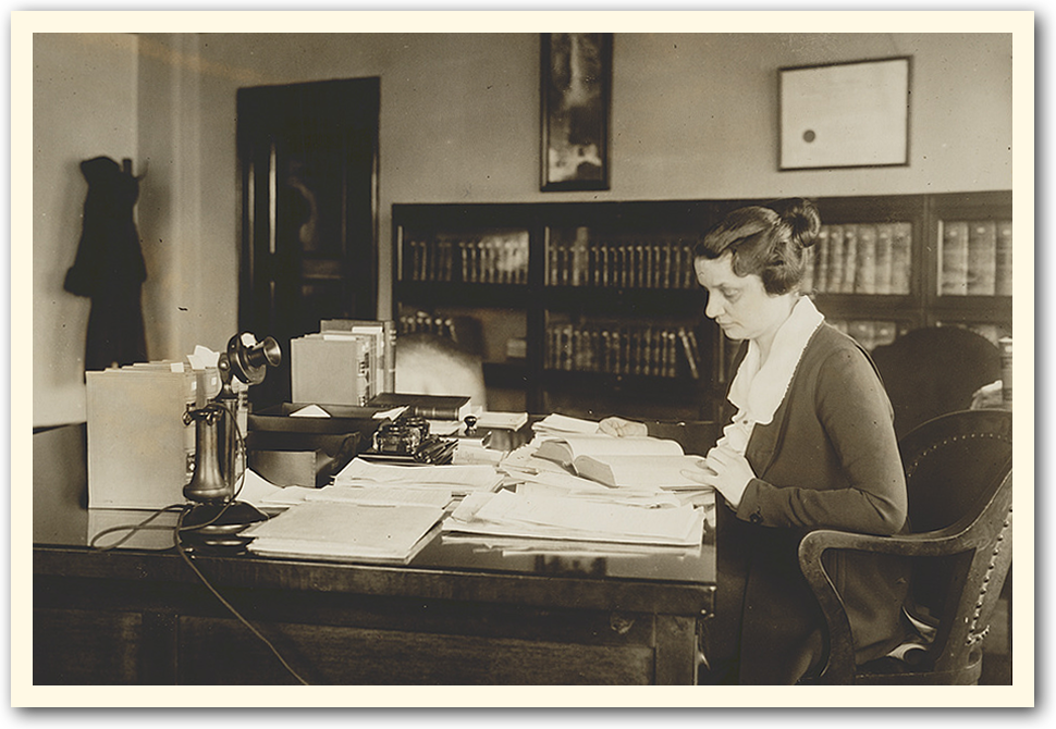 Mabel Willebrandt hard at work.