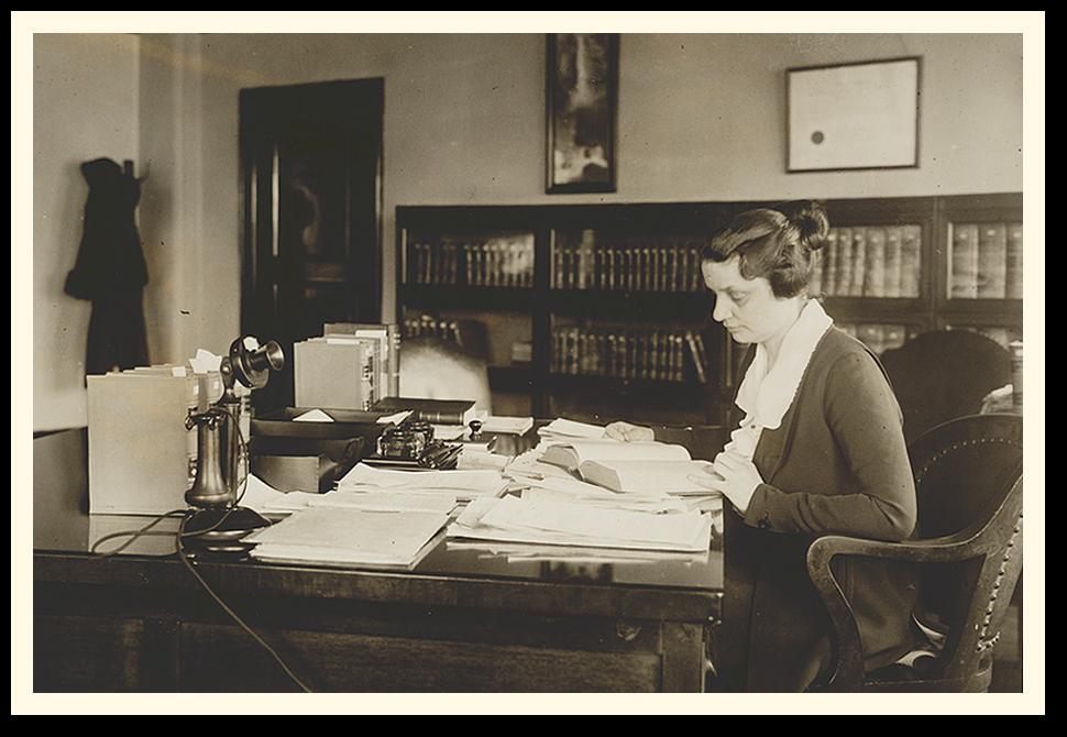 Mabel Willebrandt hard at work.