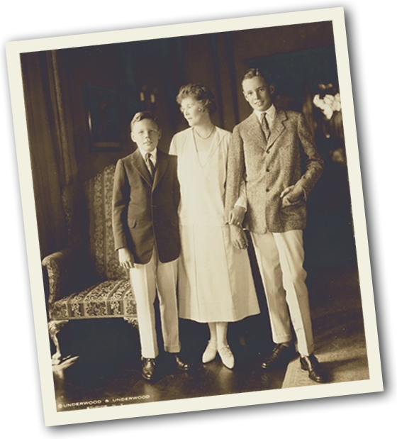 Pauline Sabin and sons Paul and James