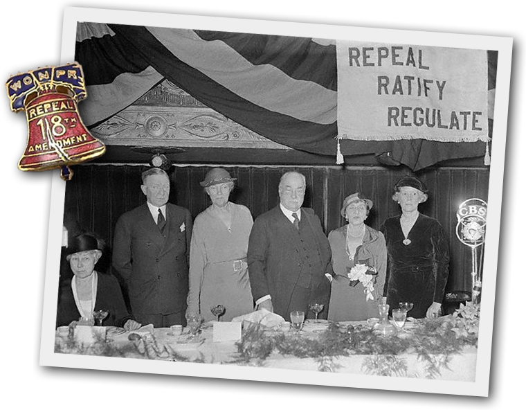 Sabin (far right) and her colleagues in the fight against Prohibition.