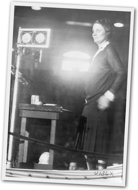 Willebrandt making history delivering a report to the delegates at the 1928 Republican National Convention.
